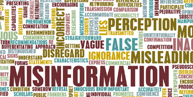Misinformation and Hype shutter